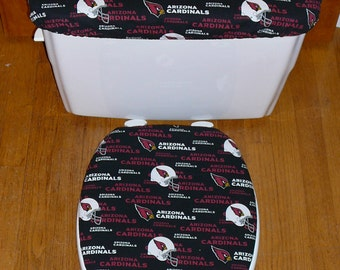Arizona Cardinals Toilet Seat Cover and Tank Lid Cover Set