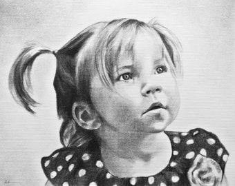 Children Portraits - Comission a custom portrait from your favorite photograph