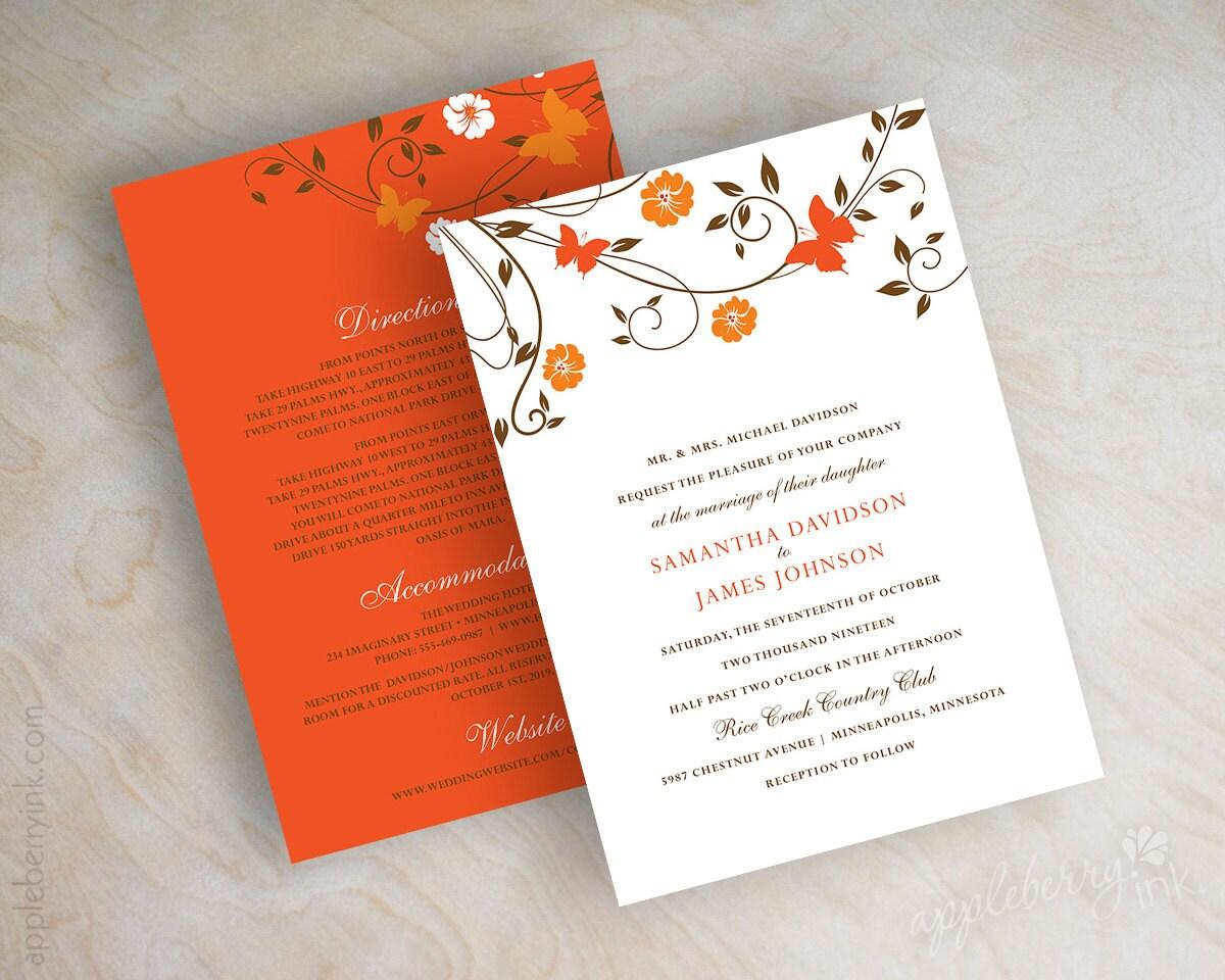 Wedding Butterfly Invitations: Wedding Invitations Butterfly Wedding Invites Vine Wedding