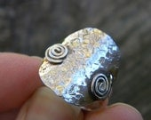 Everyday ring - textured sterling silver ring sz 6.5