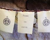 Peace on earth prayer flag, bunting