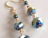 Jeweled Seas (handmade beaded earrings )