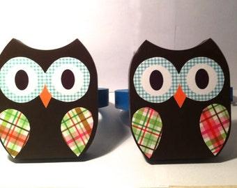 Owl Curtain Hold Backs Owl Nursery Decor Set of Wooden tie backs