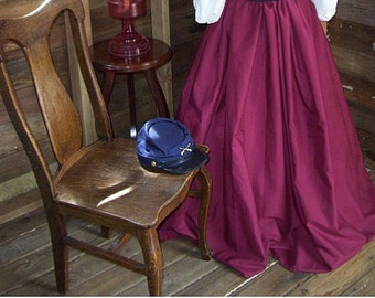 Girls Civil War skirt, Victorian skirt, Victorian skirt, prairie skirt, civil war costume, victorian costume, skirt only Color and Fullness