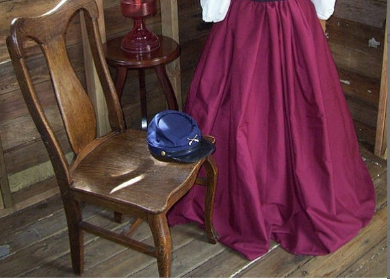Victorian Costume Dresses & Skirts for Sale Civil War skirt Victorian skirt Victorian skirt prairie skirt civil war costume victorian costume skirt only Color choice and Fullness $35.00 AT vintagedancer.com