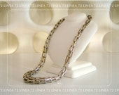 Ultra Modern Link Necklace in Silver and Gold Toned Metal