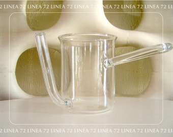 Bauhaus Style Clear Glass Pitcher