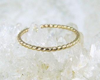 14K Solid Gold Stacking Ring / Gold Stacking Ring / Gold Ring / Gold Wedding Ring