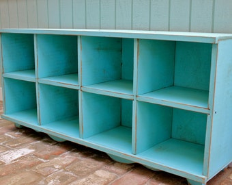 Dorm Room Gift - Laundry Room Organization - Cubby Bench - Storage Furniture - Entryway - Hall - Shoe Storage - Toys - Cubbies - Cubbyholes