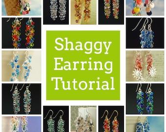 PDF Jewelry Tutorial -  Shaggy Beaded Earrings Instructions