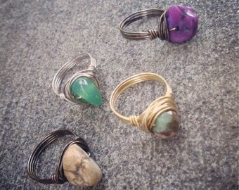 Custom Ring, You Choose Stone Color/Metal/Size