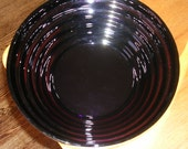 Blenko Purple Glass Bowl Beehive