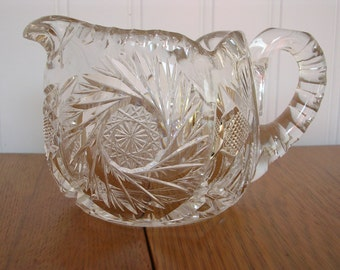 Crystal Creamer American Brilliant Glass on SALE