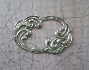 Vintage Steel Art Nouveau Swirl Stamping - Closed Design