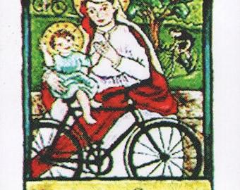 Patron Saint of Bicycles - Bike Sticker