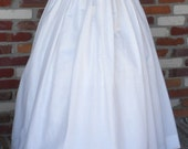 Custom Made White Cotton Skirt With Knife Pleats Western Gypsy Hippie Boho Wedding Or Underskirt For Split Skirts