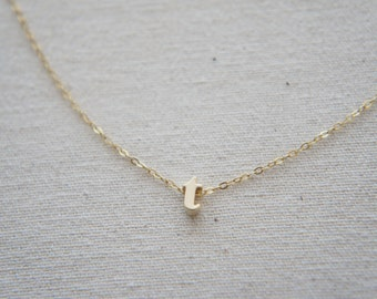 """Gold Letter, Alphabet, Initial  """"t"""" necklace, birthday gift, lucky charm"""