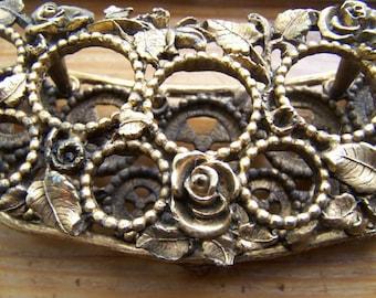 Vintage Brushed Gold Rose Lipstick Vanity