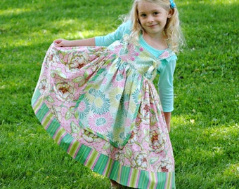 Girls Apron dress, Girls Clothing, Toddler Dress, Childrens Clothing, Girls Dresses, Toddler dress, Sundress, Pink, size 1T 2 3 4 5 6 7 8