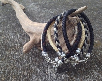 Custom Horsehair Bracelet - Single Strand Round Braid - 6MM