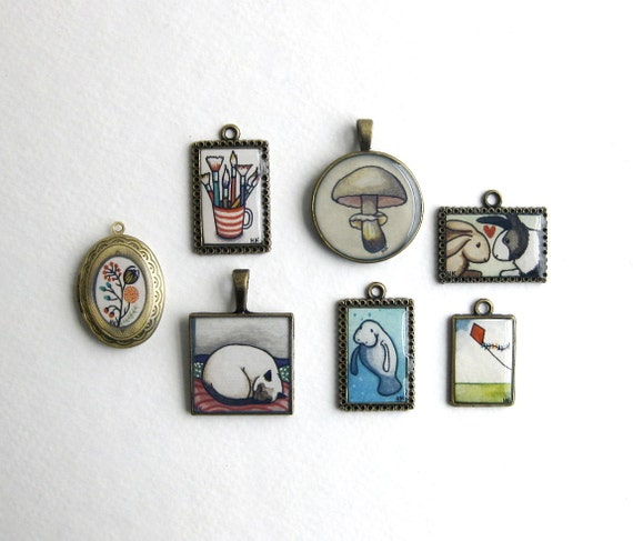 Personalized Jewelry  - Custom Hand Painted Watercolor Necklace - Limited Number - Gifts under 50