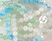 Cracked Crystal Beads 60% off, qty 53