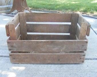 Vintage Apple Crate Fruit Box Rustic Wood Box 1958 Washington Fruit Growers