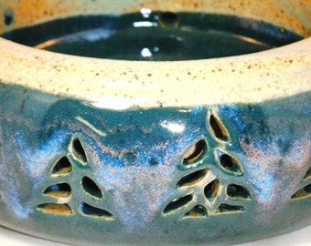 Pine Tree Bear Double-Walled Planter Solstice Northern Lights