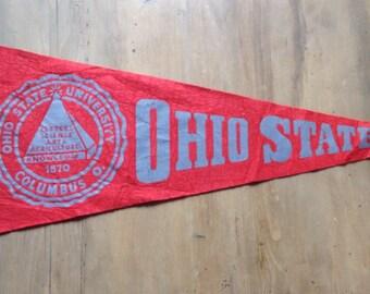Vintage pennant felt Ohio State