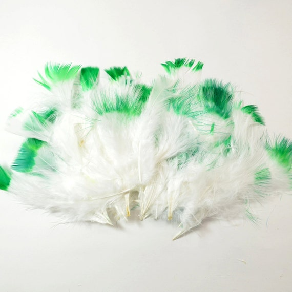 Marabou Feather Dyed Tips-Green 6g