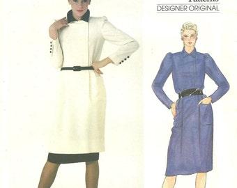 1012 Vogue Valentino Dress size 8 1978 Vintage Original FF