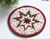 Patchwork Coasters PDF Sewing Pattern, Drink Coaster Pattern, Star Coasters, Sewing Pattern PDF, Pattern for Fabric Scraps