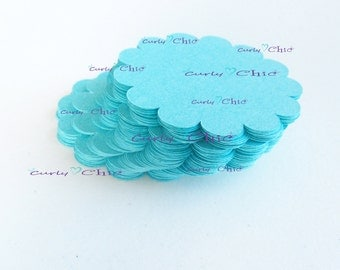 "25 Scalloped Circle Tags Size 2"" -Scalloped Circles die cuts -Cardstock tags -Scalloped labels -Paper die cuts -Paper Die cuts"