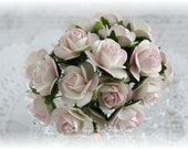Mulberry Roses~Shabby Pink~ Set of 20 for Scrapbooking, Cardmaking, Altered Art, Wedding, Mini Album