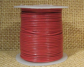 1mm Round Leather - Pink - 115