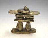 Inukshuk, hand made gift, graduation gift, pottery, ceramic art people of the north