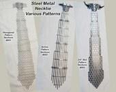 Steel Metal, Regular Necktie, Various Patterns