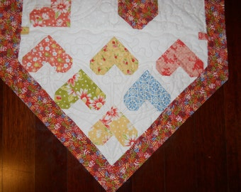 Randon Hearts Table Runner (custom order)