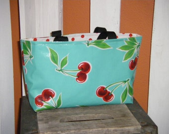 Picket Fence Designs  oilcloth small tote bag