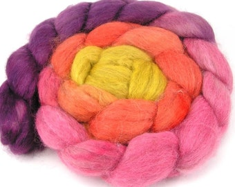 Spinning Fiber - Baby Alpaca Combed Top - Autumn Flowers Roving