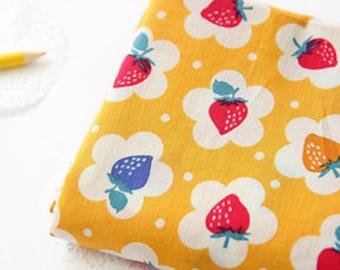Lovely Berry on Yellow ASSA Cotton Wide 140cm, U144