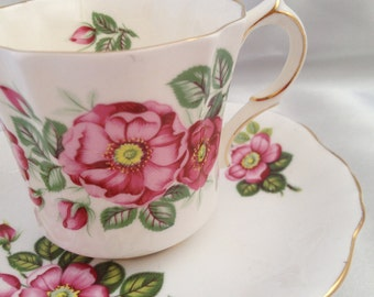 Vintage Hammersley bone china Flowers of Shakespeare tea cup and saucer