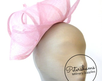 Wide Sinamay Ribbon Sash for Millinery, Hat Trimming & Fascinators - Rose Pink