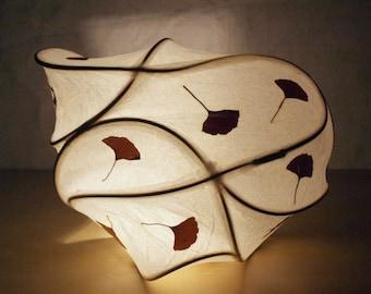 Paper Light Sculpture, Abstract Light Sculpture, Lighting, Fine Art, Ginkos in the Wind