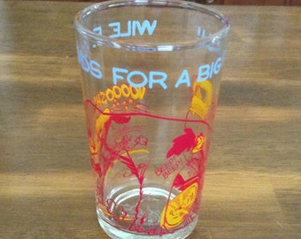 Vintage Warner Bros Wile Coyote Glass 1974 Warner Bros