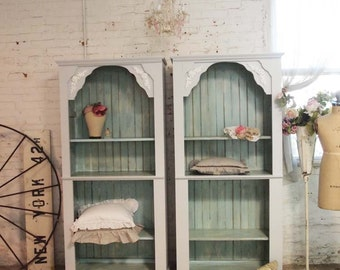 Painted Cottage Handmade Farmhouse Bookcase / China Cabinet BC12