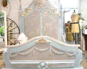 Painted Cottage Shabby Chic Marie Antoinette Romantic French Bed