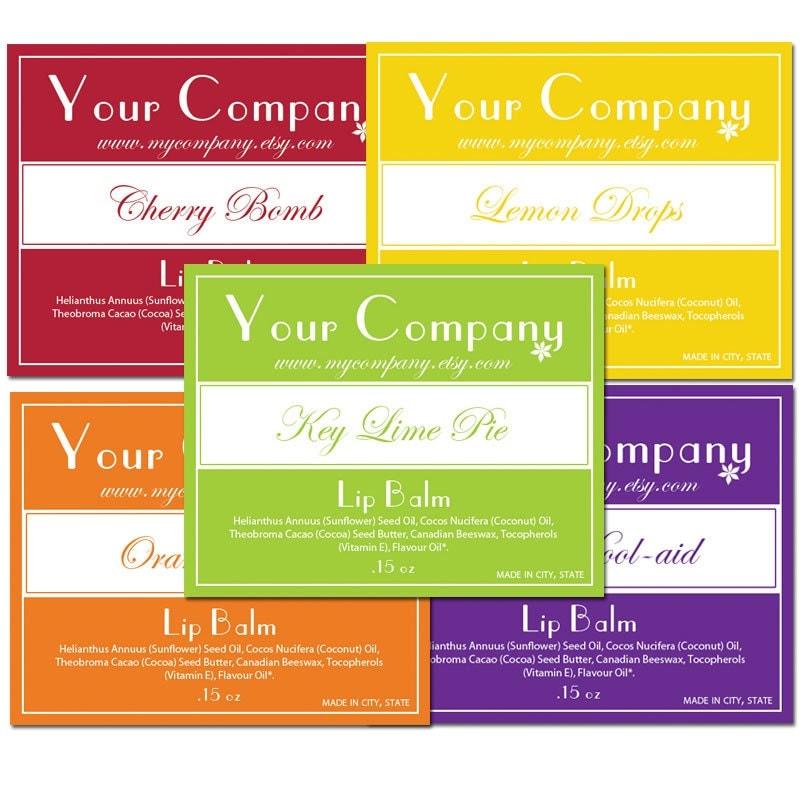 Pre Designed Lip Balm Labels