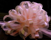 XL Peach Bows Gift Car Welcome Home Baby Sweet 16 Quinceanera Decorations