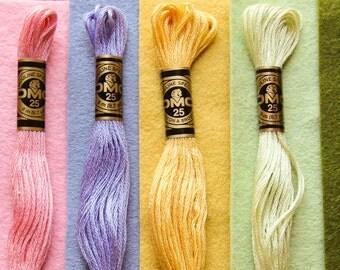 Wool Garden - 6 skeins of Coordinating Embroidery Floss